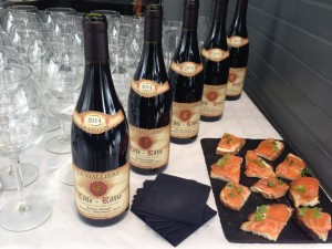 Buffet-Vins et Gravlax de saumon-Brasserie Debourg